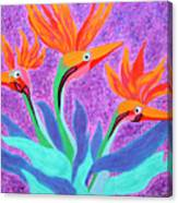 Mama And Her Chicks By Ken Tesoriere Canvas Print
