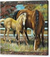 Mama And Jr. Canvas Print