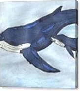 Mama Whale Canvas Print