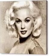 Mamie Van Doren, Vintage Actress And Pinup Canvas Print