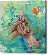 Mamma's Hands Canvas Print
