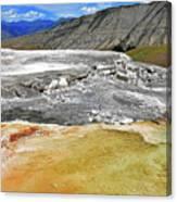 Mammoth Hot Springs1 Canvas Print