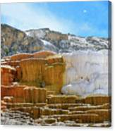 Mammoth Hot Springs4 Canvas Print