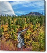Mammoth Lakes Autumn Falls Canvas Print