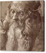 Man Aged 93 Brush Ink On Paper 1521 Canvas Print