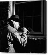 Man Breaking Into Building, C.1950s Canvas Print