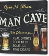 Man Cave Chalkboard Sign Canvas Print