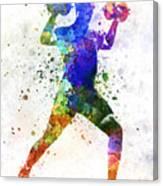 Man Exercising Weight Training Canvas Print