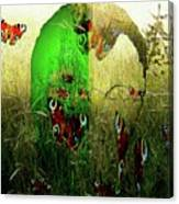 Man Front Of Mother Nature Canvas Print