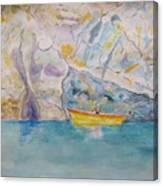 Man In Boat, Lerici Canvas Print