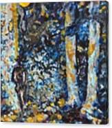 Man In Moonshadow Canvas Print