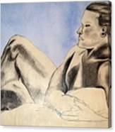 Man In Recline Canvas Print
