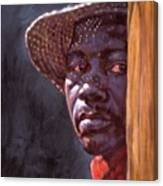 Man In Straw Hat Canvas Print