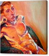Man Nude Canvas Print