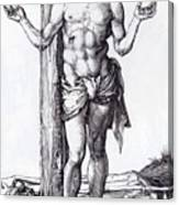 Man Of Sorrows With Hands Raised 1500 Canvas Print