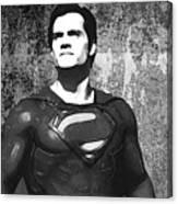 Man Of Steel Monochrome Canvas Print