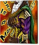 Man Of War Poster Design Canvas Print