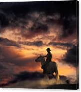 Man On Horseback Canvas Print