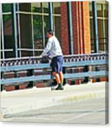 Man On The Bridge Canvas Print