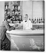 Man Ordering Another Drink, C. 1940s Canvas Print