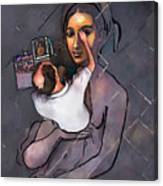 Man Painting Woman Canvas Print