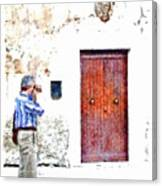 Man Photographing Canvas Print
