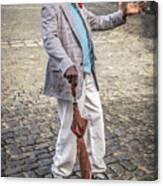 Man Smoking A Cigar Canvas Print
