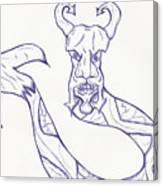 Man Snake Canvas Print