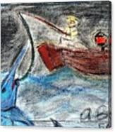 Man Vs. Marlin Canvas Print