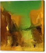 Man Walking Dog Canvas Print