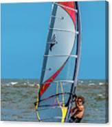 Man Wind Surfing Canvas Print