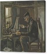 Man Winding Yarn Nuenen, May - June 1884 Vincent Van Gogh 1853  1890 Canvas Print