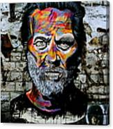 Man With Colourful Face Canvas Print