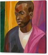 Man With Crimson Drapery Canvas Print
