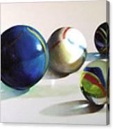 Man With Glass Balls  Canvas Print