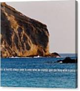 Manana Rabbit Island Quote Canvas Print