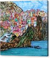 Manarola Canvas Print