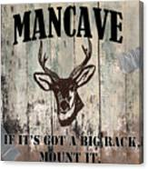 Mancave Deer Rack Canvas Print