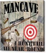 Mancave Hunt Tail Canvas Print