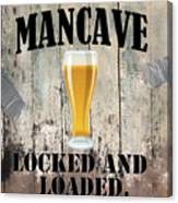 Mancave Locked And Loaded Canvas Print