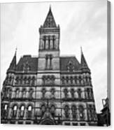 Manchester Town Hall England Uk Canvas Print