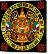 Mandala Azteca Canvas Print