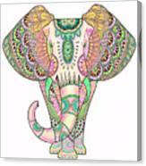 Mandala Elephant Psicodelic Canvas Print