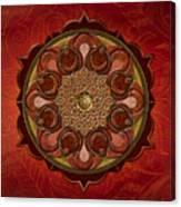 Mandala Flames Sp Canvas Print