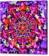 Mandala Floral Red Purple Canvas Print
