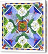 Mandala IIi - White Hibiscus Canvas Print