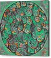 Mandala In Green Canvas Print
