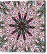 Mandala Of Cherry Blossom Canvas Print