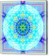 Mandala Of Womans Spiritual Genesis Canvas Print