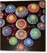 Mandala Stones Heart Canvas Print